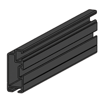 Profilo Sistema in alluminio 2.5 m x 2.5 cm grigio