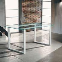 Tavolo rettangolare Synergo in acciaio L 75 x P 160 cm