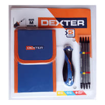 Cacciavite intercambiabile piatto DEXTER 5 pezzi