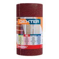 Rotolo di carta abrasiva DEXTER grana 80