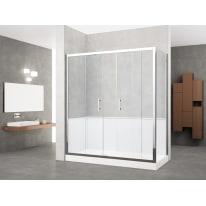 Box doccia rettangolare scorrevole 160 x 70 cm, H 190 cm in vetro temprato, spessore 6 mm trasparente cromato