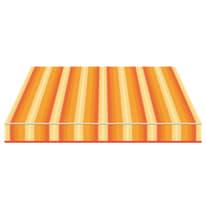 Tenda da sole a bracci estensibili manuale TEMPOTEST PARA' L 240 x H 210 cm arancione, avorio, rosso, giallo Cod. 943/72