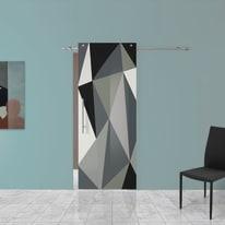 Porta scorrevole con binario esterno Carpet 3 in vetro Kit B L 88 x H 220 cm dx