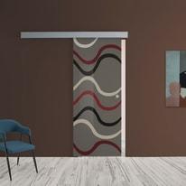 Porta scorrevole con binario esterno Carpet 4 in vetro Kit A L 88 x H 215 cm sx