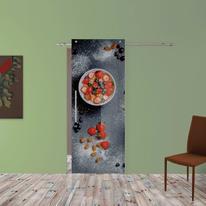 Porta scorrevole con binario esterno Cibando in vetro Kit B L 88 x H 220 cm dx