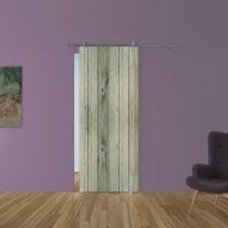 Porta scorrevole con binario esterno Dogato in vetro Kit Ermes L 88 x H 215 cm dx