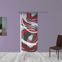 Porta scorrevole con binario esterno Energy in vetro Kit Lux L 88 x H 215 cm dx