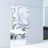 Porta scorrevole con binario esterno Hypnotique in vetro Kit Atena L 76 x H 215 cm