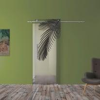Porta scorrevole con binario esterno Kenzia in vetro Kit B L 88 x H 220 cm dx