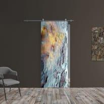 Porta scorrevole con binario esterno Ossido in vetro Kit Ermes L 88 x H 215 cm sx