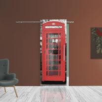 Porta scorrevole con binario esterno Phone in vetro Kit B L 88 x H 220 cm sx