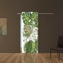 Porta scorrevole con binario esterno Plant in vetro Kit B L 88 x H 220 cm dx