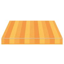 Tenda da sole a bracci estensibili manuale TEMPOTEST PARA' L 350 x H 210 cm giallo, arancione Cod. 5361/55