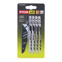 Set lame per seghetto alternativo RYOBI RAK05JSBC in acciaio e carbonio L 102 mm 5 pezzi