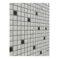 Mosaico Metal H 30 x L 30 cm bianco, argento