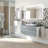 Mobile bagno Loto bianco L 120 cm