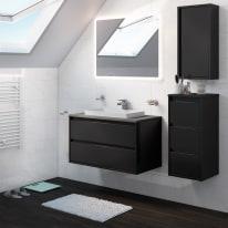 Mobile bagno Loto grigio L 90 cm