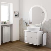 Mobile bagno Bellagio bianco L 70 cm