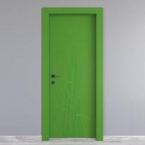 Porta a battente Blades Green verde L 70 x H 210 cm destra