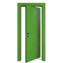 Porta rototraslante Blades Green verde L 70 x H 210 cm destra