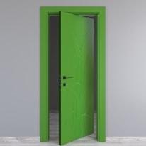 Porta rototraslante Blades Green verde L 80 x H 210 cm destra