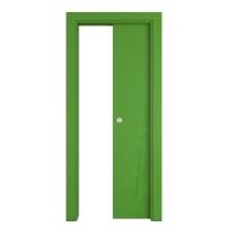 Porta scorrevole a scomparsa Blades Green verde L 70 x H 210 cm reversibile
