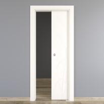 Porta scorrevole a scomparsa Blades White bianco L 70 x H 210 cm reversibile