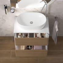 Mobile bagno Bellagio bianco e rovere L 70 cm