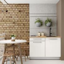 Cucina in kit DELINIA one bianco L 120 cm