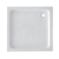 Piatto doccia ceramica Quadro 70 x 70 cm bianco