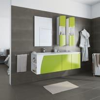 Mobile bagno Soft verde acido L 152.5 cm