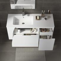 Mobile bagno Soft bianco L 116.5 cm