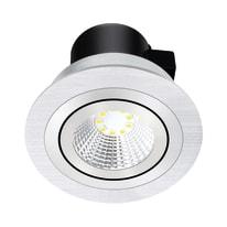 Faretto fisso da incasso tondo Oris in alluminio, grigio, diam. 9.3 cm LED integrato 550LM IP23 INSPIRE