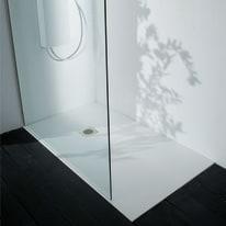 Piatto doccia ultrasottile fibra di vetro Boston 70 x 100 cm bianco