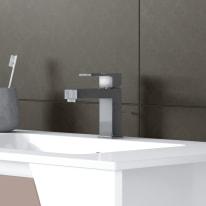 Mobile bagno Soft visone L 152.5 cm
