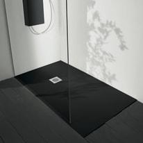 Piatto doccia ultrasottile fibra di vetro Boston 70 x 160 cm nero