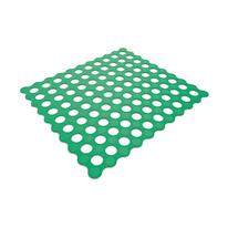 Tappeto antiscivolo Golf in pvc verde 52 x 52 cm