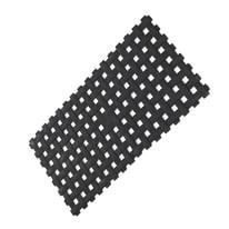 Tappeto antiscivolo Net in pvc nero 71 x 36 cm