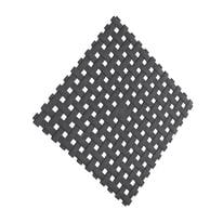 Tappeto antiscivolo Net in pvc nero 54 x 54 cm