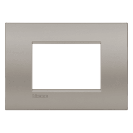 Placca 3 moduli BTicino Livinglight Air Marrone Sabbia
