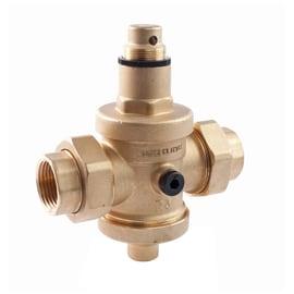 Riduttore di pressione con presa manometro FF CON BOCCHETTONI Ø 15 mm 1.2-6 3 bar 112