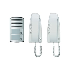 Citofono 5 fili Kit audio analogico bifamiliare