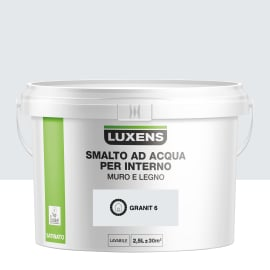 Smalto Luxens all'acqua Grigio Granito 6 satinato 2.5 L