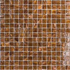 Mosaico Gold dark 32,7 x 32,7 cm marrone, oro
