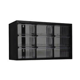 Organizer porta minuterie 1-93-978 con 9 cassetti, colore grigio/trasparente