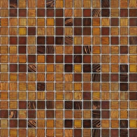 Mosaico Mix 32,7 x 32,7 cm giallo, marrone