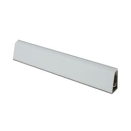 Alzatina su misura Alpaca alluminio grigio H 3 cm