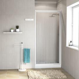 Porta doccia battente Elba 68-72, H 185 cm cristallo 3 mm piumato/bianco lucido