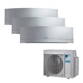 Climatizzatore fisso inverter trialsplit Daikin Emura 9000 + 9000 + 12000 BTU classe A+++ silver