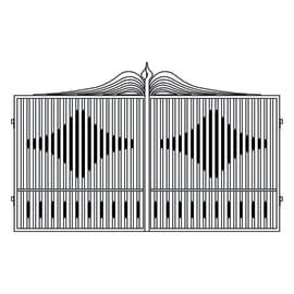 Cancello pre trattato Fuji L 400 x H 180/200 cm